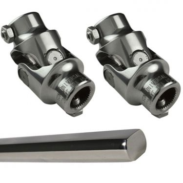 Borgeson Polished Stainless Steering Linkage Kit, 2 Joints