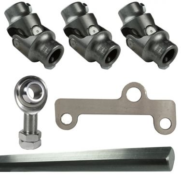 Borgeson Steel Steering Linkage Kit, 3 Joints